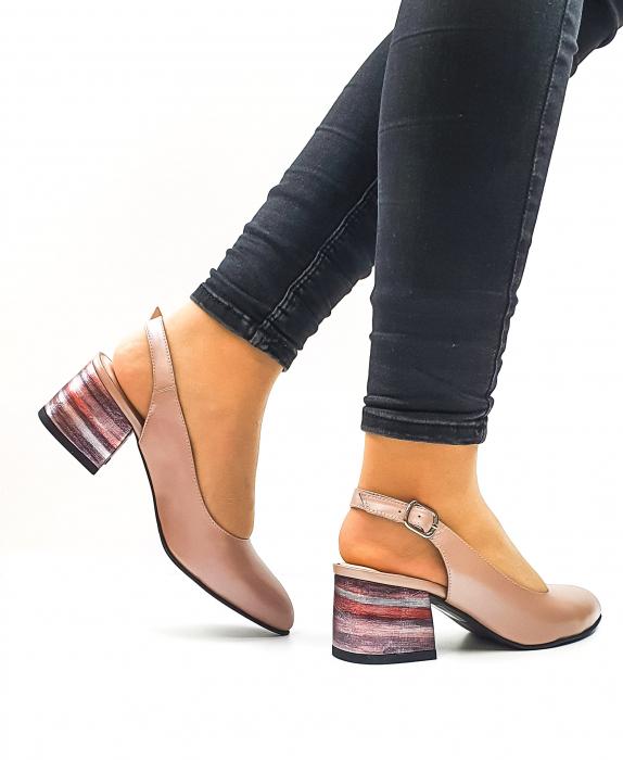 Pantofi Dama Piele Naturala Roz Moda Prosper Carmina D02636 3