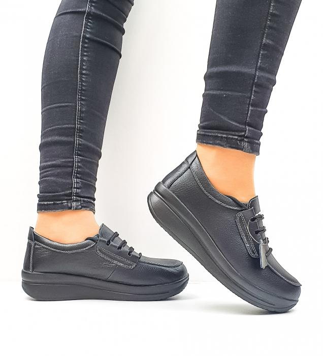 Pantofi Casual Dama Piele Naturala Negri Epifania D02645 1