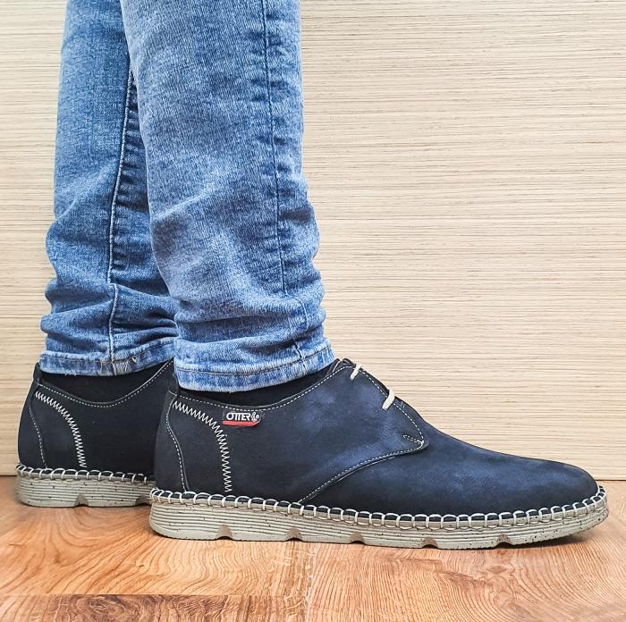 Pantofi Casual Barbati Piele Naturala Bleumarin Elisei B00097 0