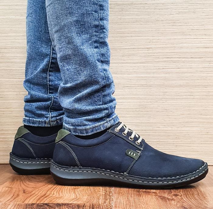 Pantofi Casual Barbati Piele Naturala Bleumarin Alexandru B00096 0