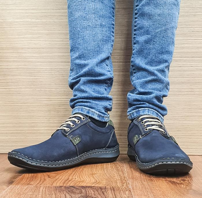 Pantofi Casual Barbati Piele Naturala Bleumarin Alexandru B00096 2