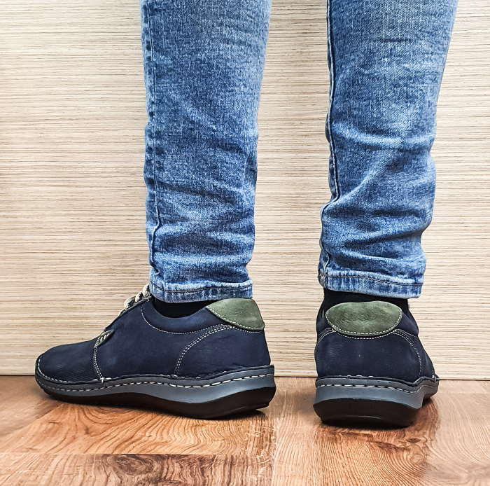 Pantofi Casual Barbati Piele Naturala Bleumarin Alexandru B00096 3