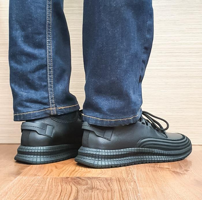 Pantofi Barbati Casual Piele Naturala Otter Negri Lucretiu B00101 3