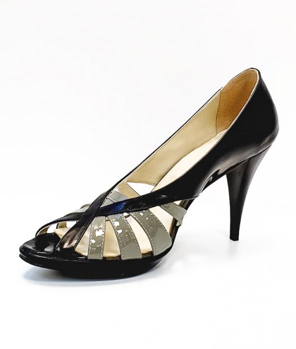 Pantofi Dama Piele Naturala Negri Moana D02663 2