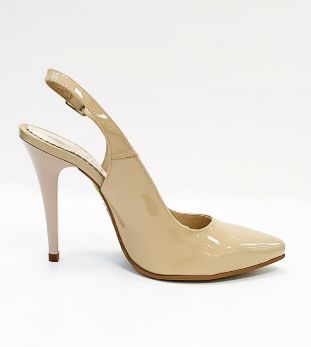 Pantofi Dama Piele Naturala Nude Amona D02665 0