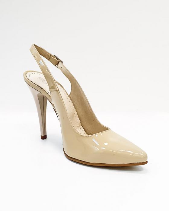 Pantofi Dama Piele Naturala Nude Amona D02665 1