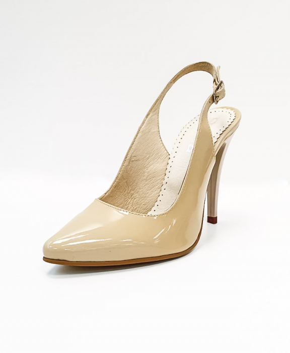 Pantofi Dama Piele Naturala Nude Amona D02665 3