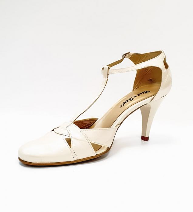 Pantofi Dama Piele Naturala Nude Axia D02666 2