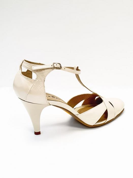 Pantofi Dama Piele Naturala Nude Axia D02666 3