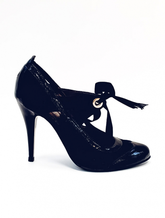 Pantofi cu toc Piele Naturala Albastri Anne D02677 0