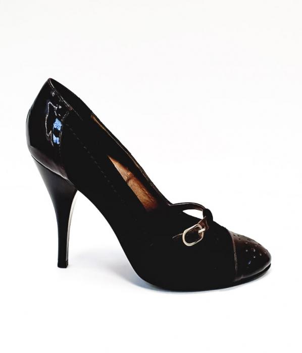 Pantofi cu toc Piele Naturala Corvaris Maro Cerma D02679 0