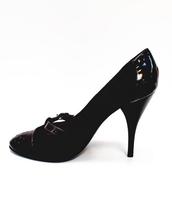 Pantofi cu toc Piele Naturala Corvaris Maro Cerma D02679 1