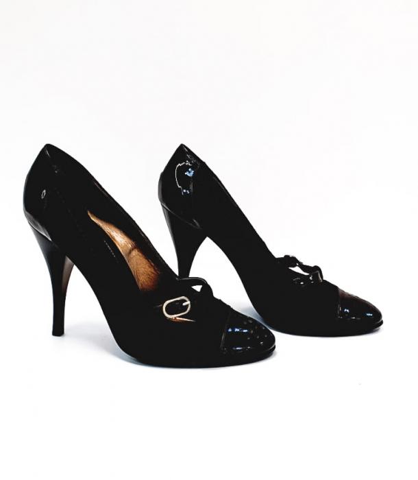 Pantofi cu toc Piele Naturala Corvaris Maro Cerma D02679 5