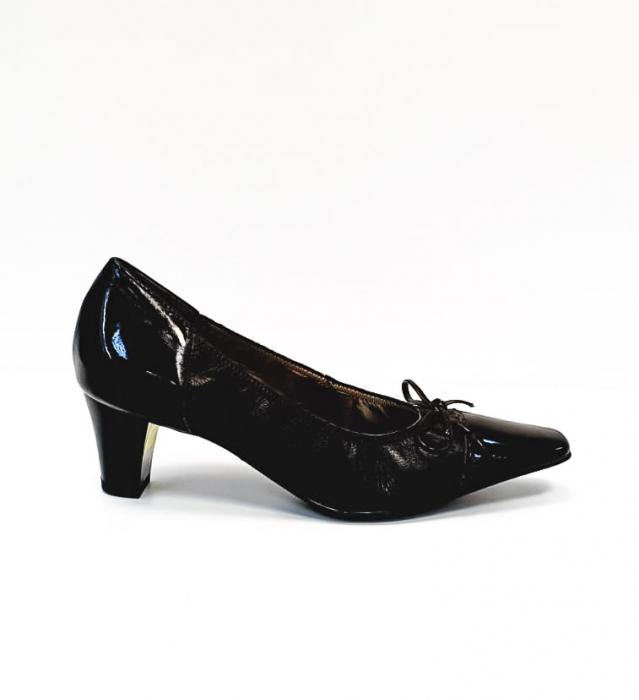 Pantofi cu toc Piele Naturala Ara Negri Mera D02686 0