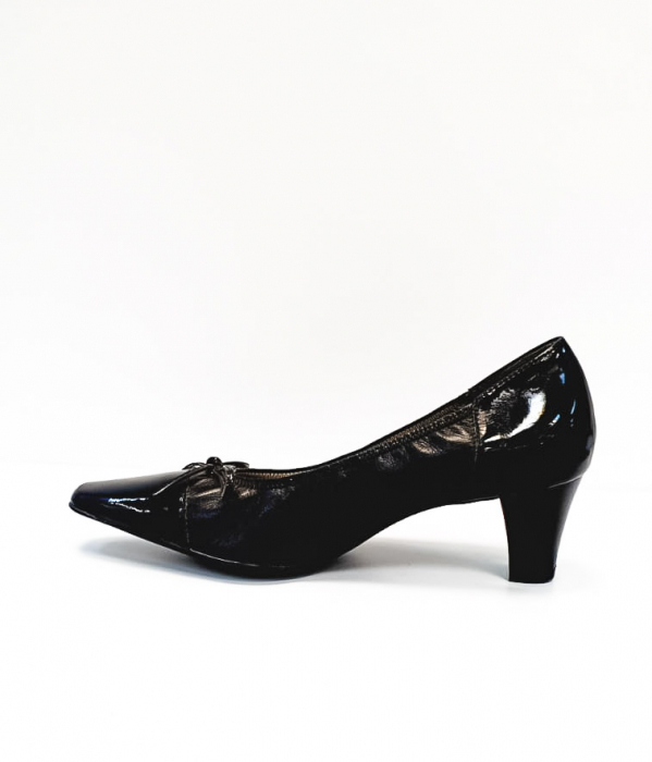 Pantofi cu toc Piele Naturala Ara Negri Mera D02686 1