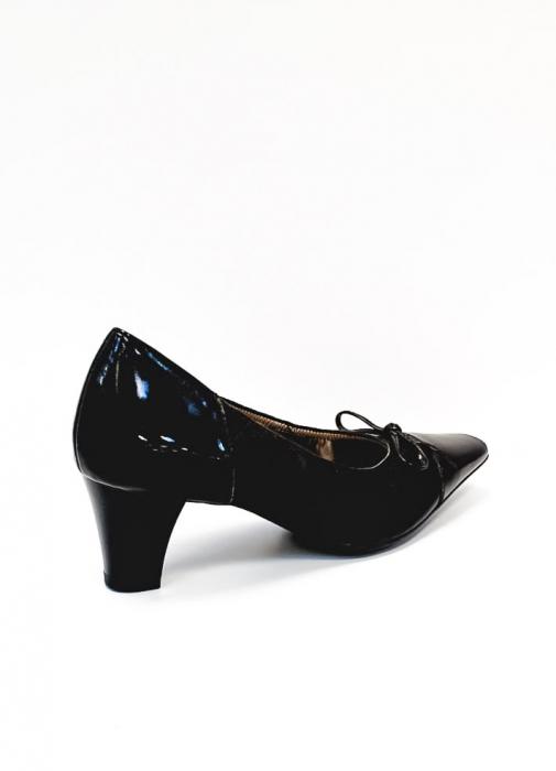 Pantofi cu toc Piele Naturala Ara Negri Mera D02686 3