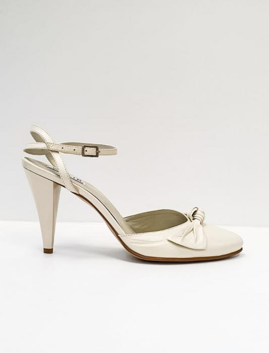 Pantofi Dama Piele Naturala Bej Rupia D02687 0