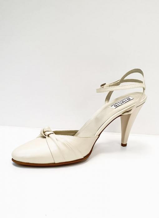 Pantofi Dama Piele Naturala Bej Rupia D02687 2