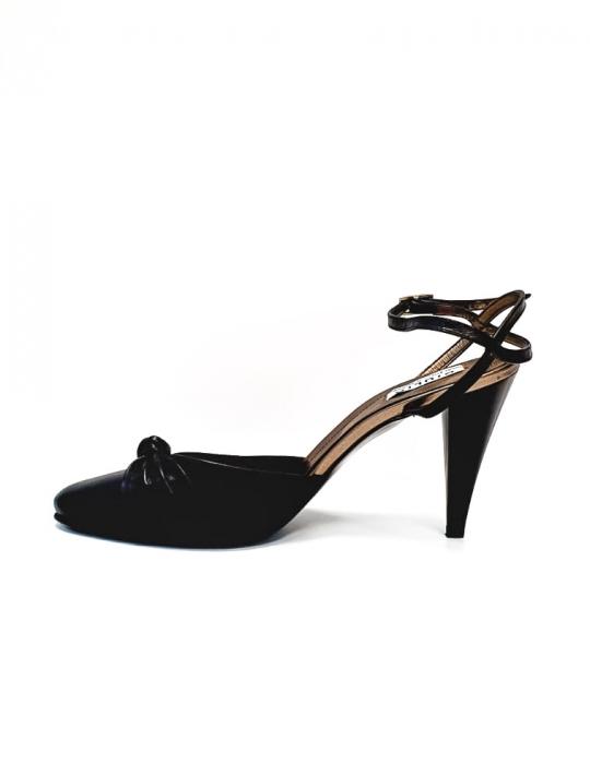 Pantofi Dama Piele Naturala Negru Lisse D02688 1