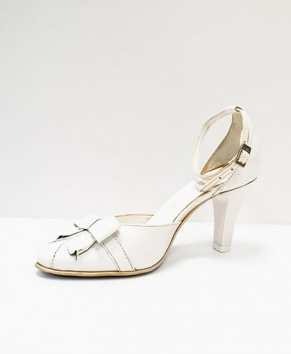Pantofi Dama Piele Naturala Albi Erma D02689 3