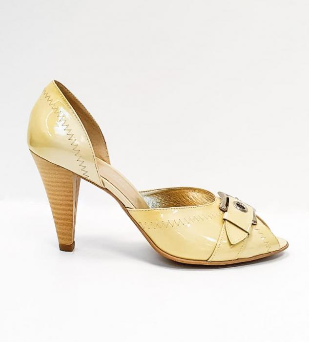 Pantofi Dama Piele Naturala Bej Tensia D02693 0