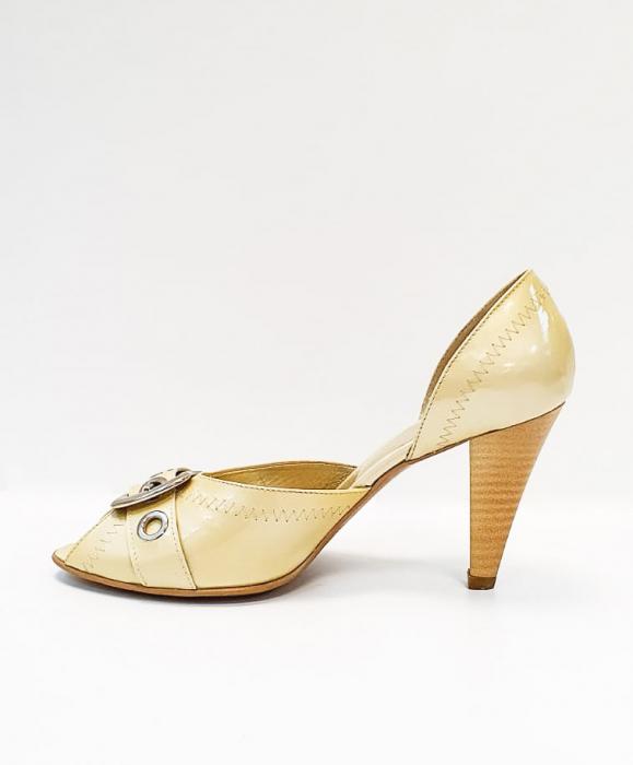 Pantofi Dama Piele Naturala Bej Tensia D02693 1