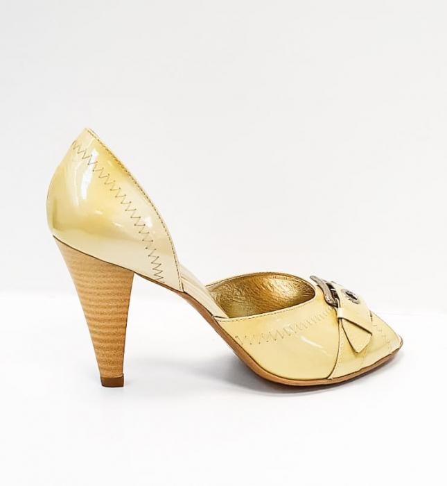 Pantofi Dama Piele Naturala Bej Tensia D02693 3