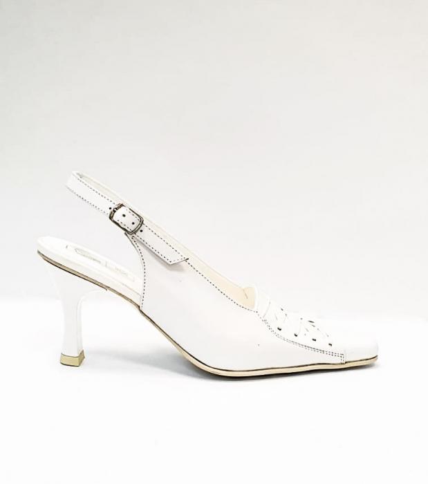 Pantofi Dama Piele Naturala Albi Xena D02695 0
