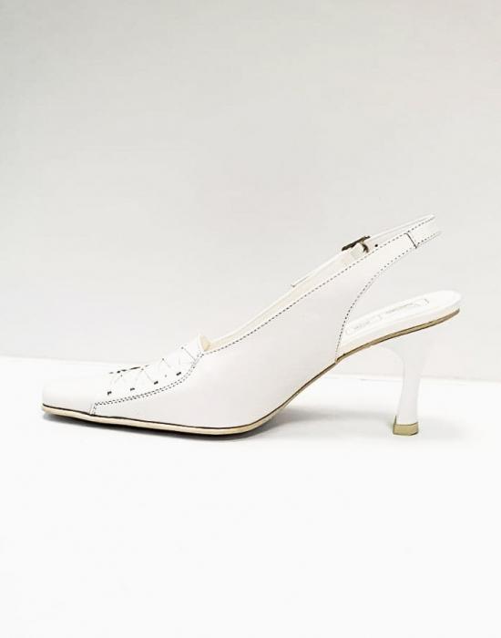 Pantofi Dama Piele Naturala Albi Xena D02695 1