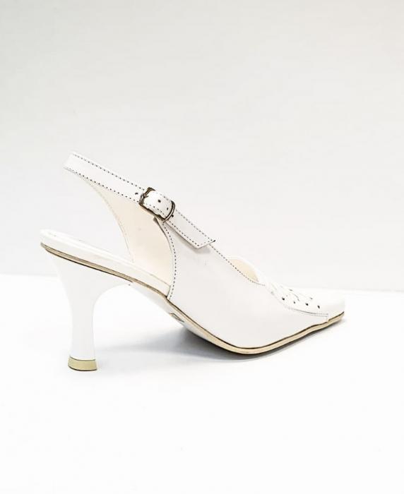 Pantofi Dama Piele Naturala Albi Xena D02695 3