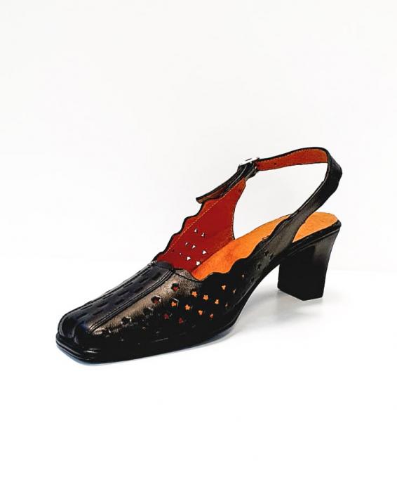 Pantofi Dama Piele Naturala Negri Omy D02694 3