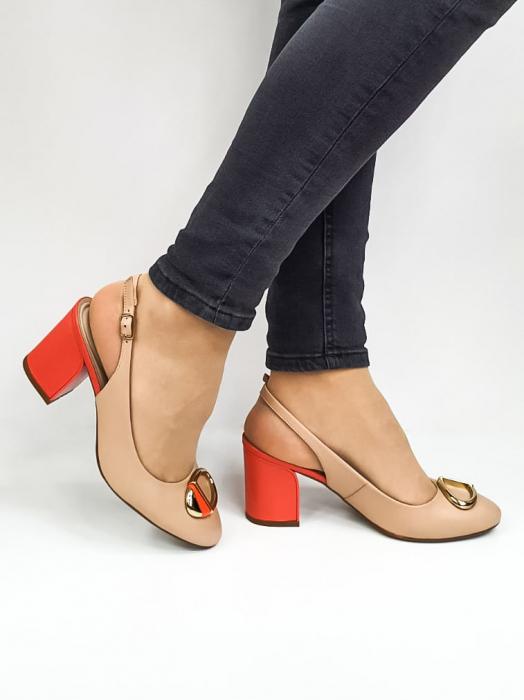 Pantofi Dama Piele Naturala Epica Bej Xia D02668 0