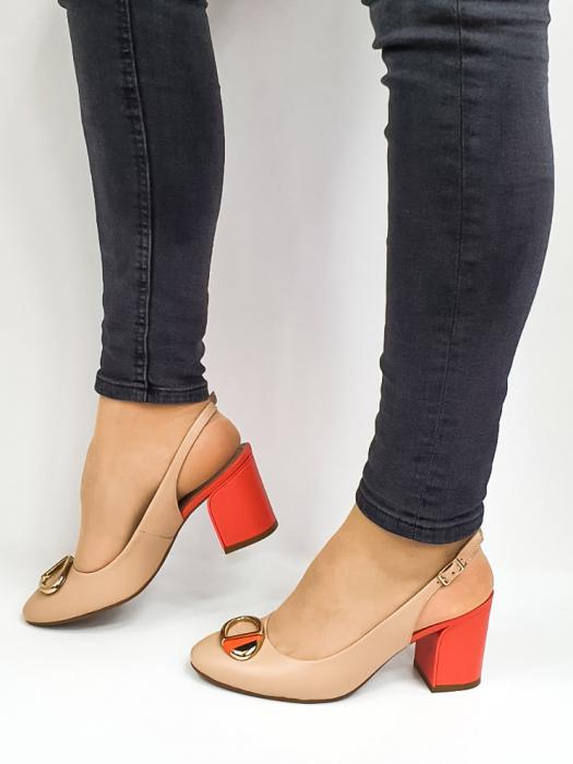 Pantofi Dama Piele Naturala Epica Bej Xia D02668 1