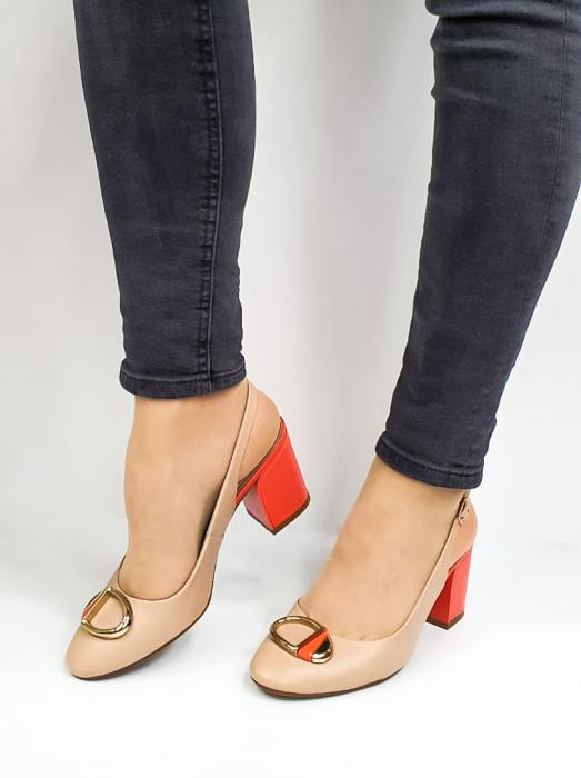 Pantofi Dama Piele Naturala Epica Bej Xia D02668 2