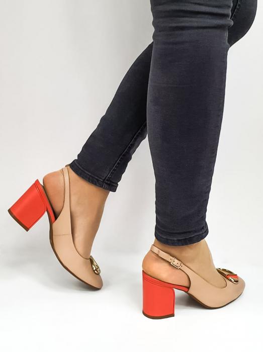 Pantofi Dama Piele Naturala Epica Bej Xia D02668 4
