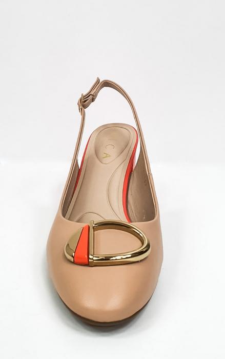 Pantofi Dama Piele Naturala Epica Bej Xia D02668 6