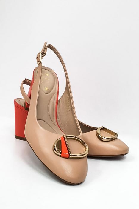 Pantofi Dama Piele Naturala Epica Bej Xia D02668 7