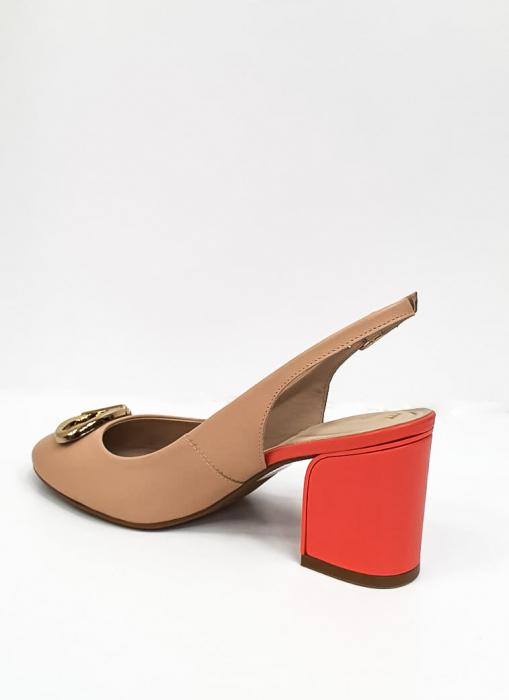 Pantofi Dama Piele Naturala Epica Bej Xia D02668 8