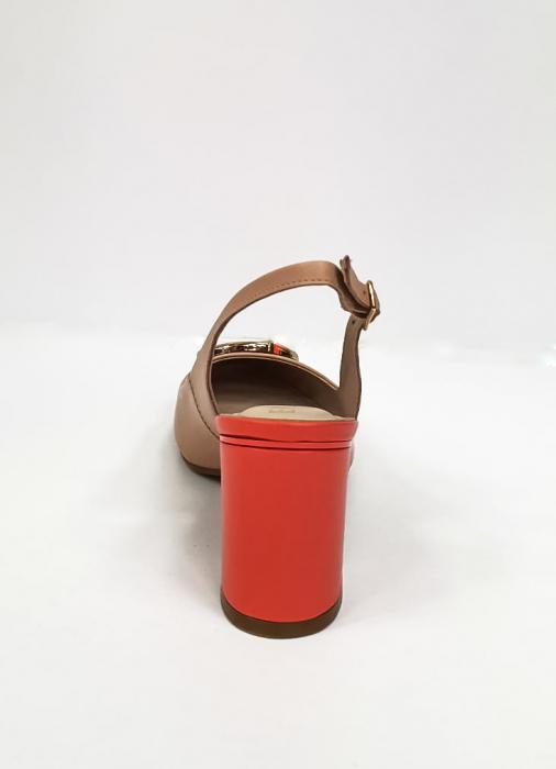 Pantofi Dama Piele Naturala Epica Bej Xia D02668 9