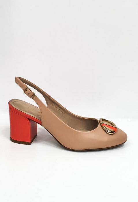 Pantofi Dama Piele Naturala Epica Bej Xia D02668 5