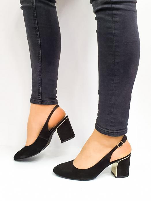Pantofi Dama Piele Naturala Epica Negri Ena D02669 1
