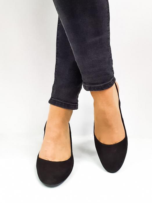 Pantofi Dama Piele Naturala Epica Negri Ena D02669 3