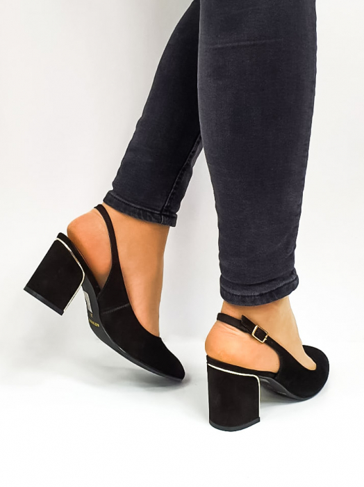 Pantofi Dama Piele Naturala Epica Negri Ena D02669 4
