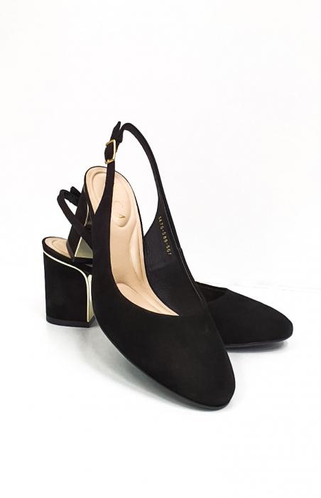 Pantofi Dama Piele Naturala Epica Negri Ena D02669 7
