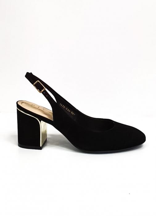 Pantofi Dama Piele Naturala Epica Negri Ena D02669 5