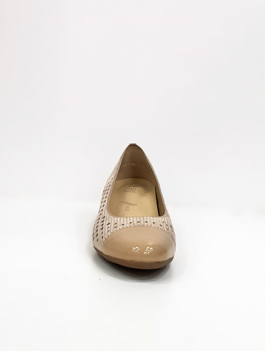 Pantofi cu toc Piele Naturala Bej Ara Enda D02670 6