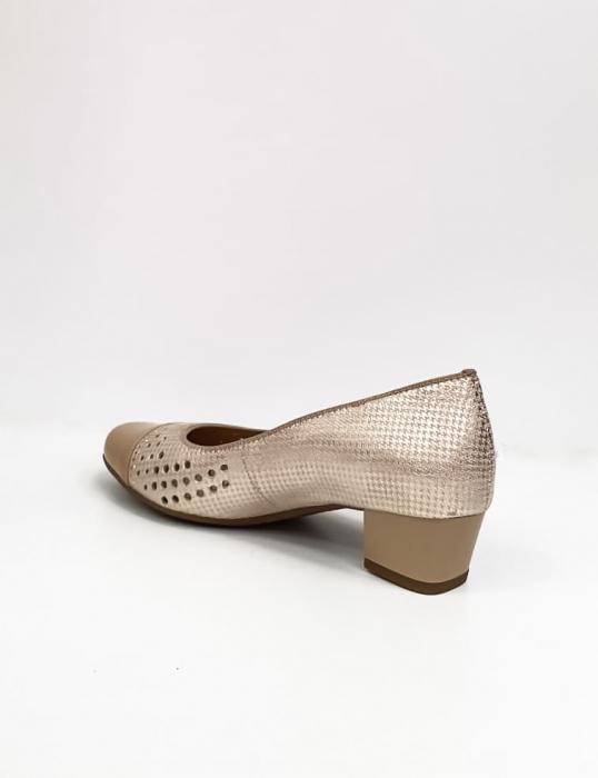 Pantofi cu toc Piele Naturala Bej Ara Enda D02670 7