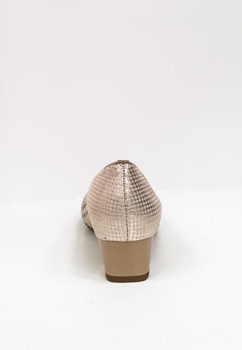 Pantofi cu toc Piele Naturala Bej Ara Enda D02670 8