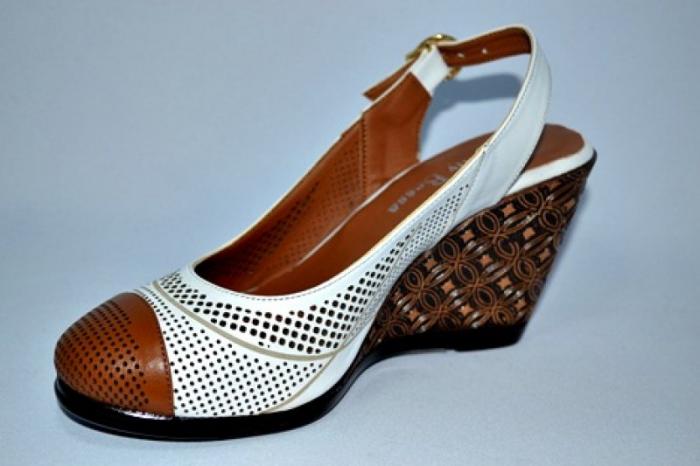 Sandale Dama Piele Naturala Albi Lola 2