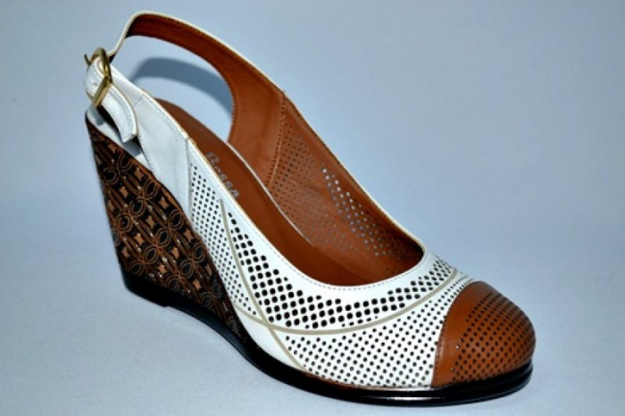 Sandale Dama Piele Naturala Albi Lola 3